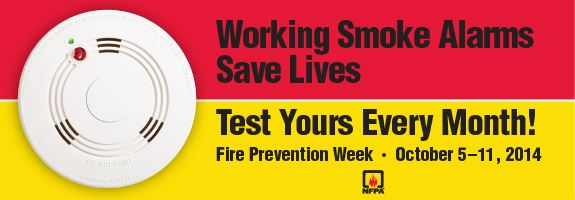 Working smoke alarms save lives. Test yours every month!
